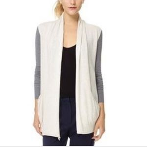 Wilfred two tone silk and cashmere cardigan